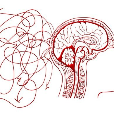 This shows a brain and squiggly lines