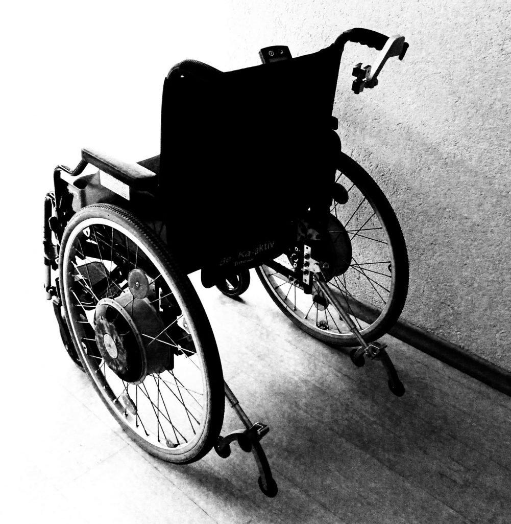 This shows a wheelchair