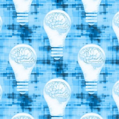 This shows brains in lightbulbs