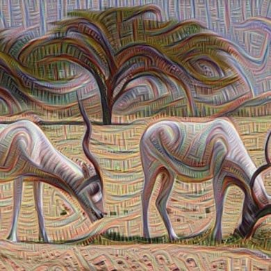 This shows an ai generated image of cows