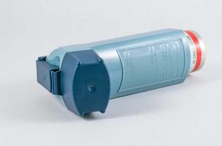 This shows an inhaler