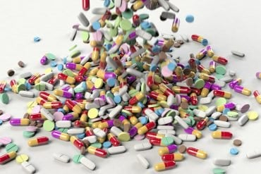 This shows antibiotic pills