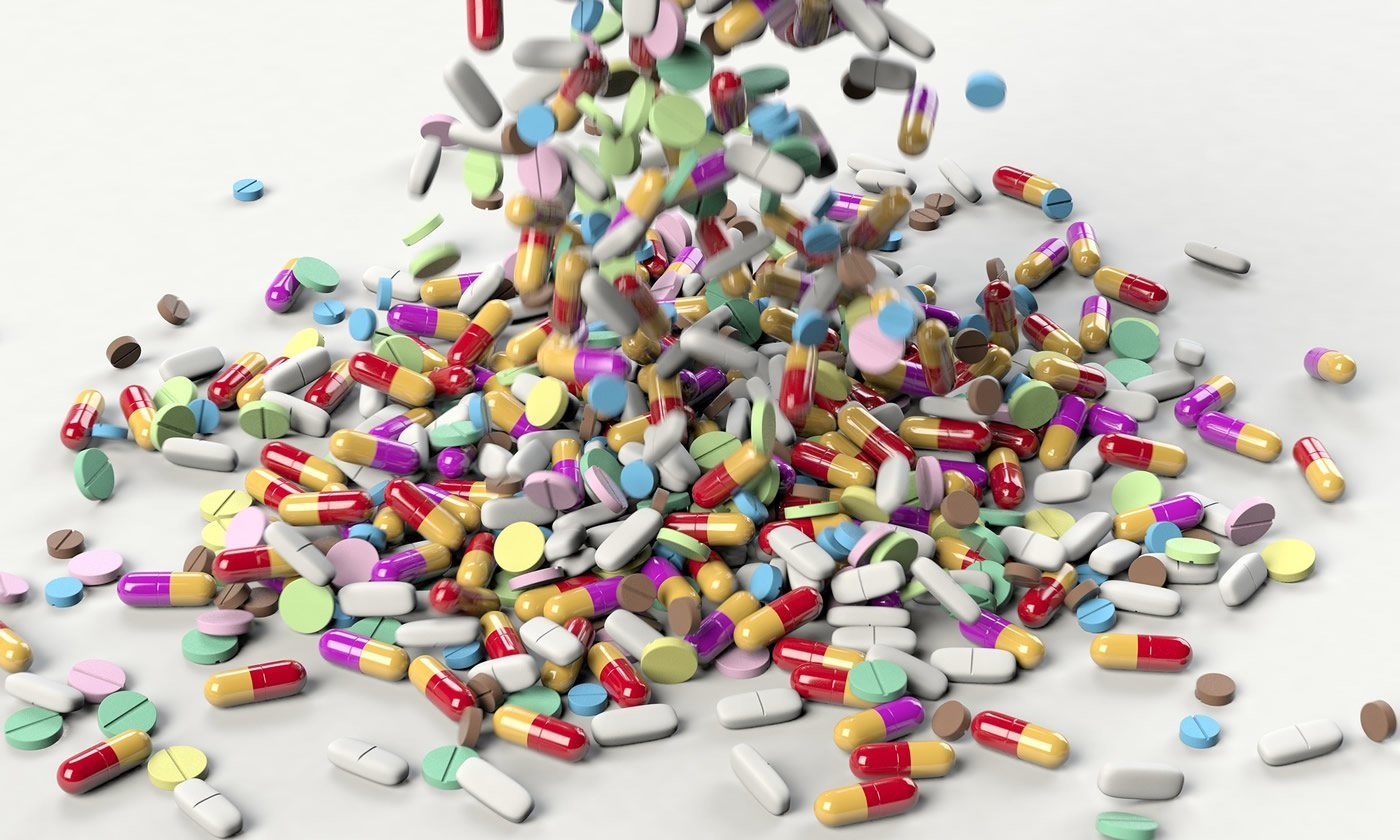 This shows antibiotic pills