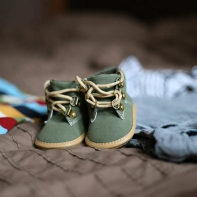 This shows baby shoes