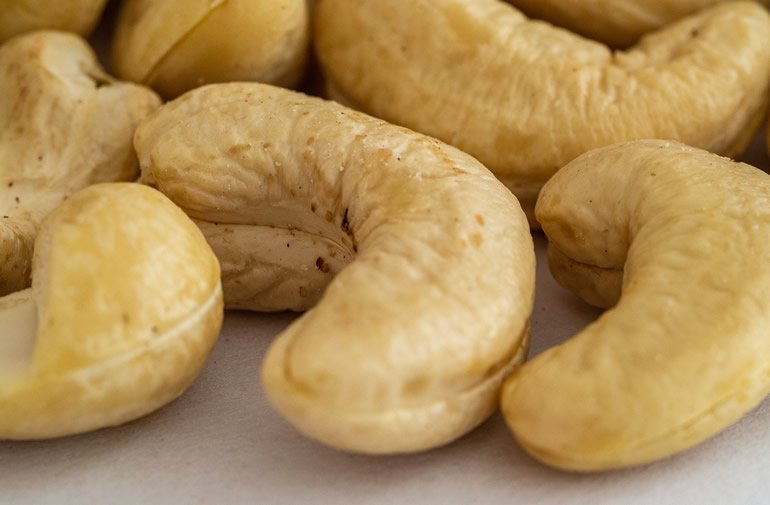 This shows cashews