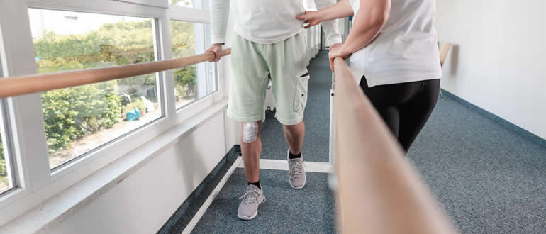 This shows the patient walking