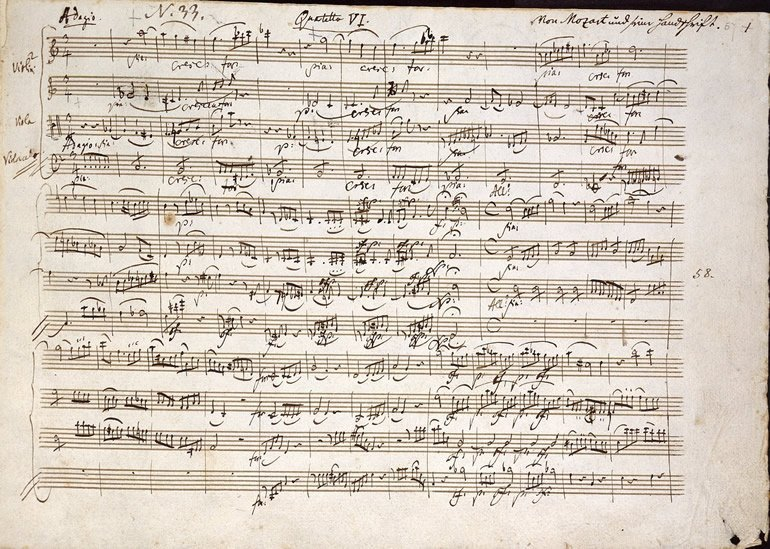 This shows sheet music by mozart