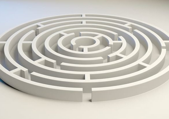 This shows a maze