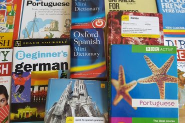 This shows different language books