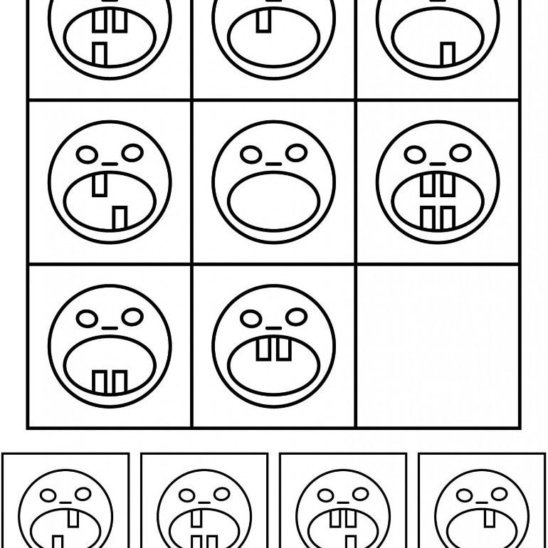 This shows drawings of faces