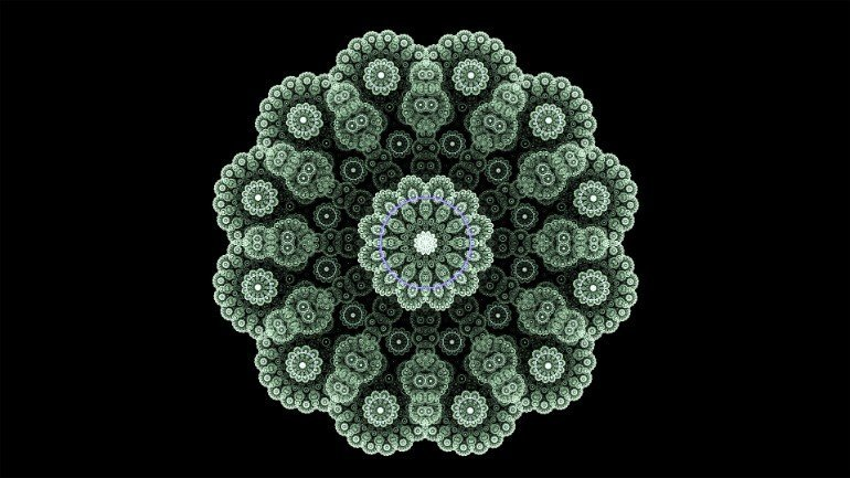 This shows a fractal pattern