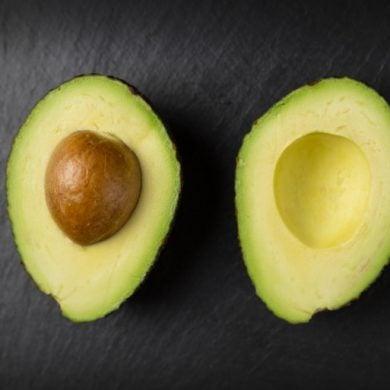 This shows an avocado