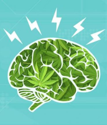 This shows a brain with lightening bolts