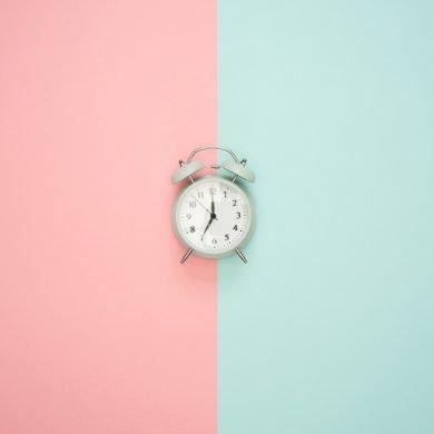 This shows an alarm clock
