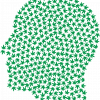 This shows a head made up of cannabis leaves