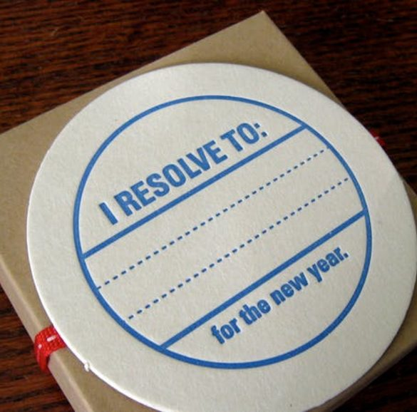"""This shows a tag with """"I resolve to"""" written on it"""