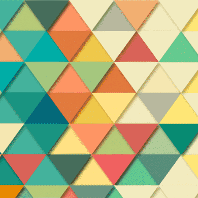 This shows rows of different colored triangles