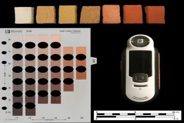 This shws different colored blocks of clay and the machine mentioned in the article