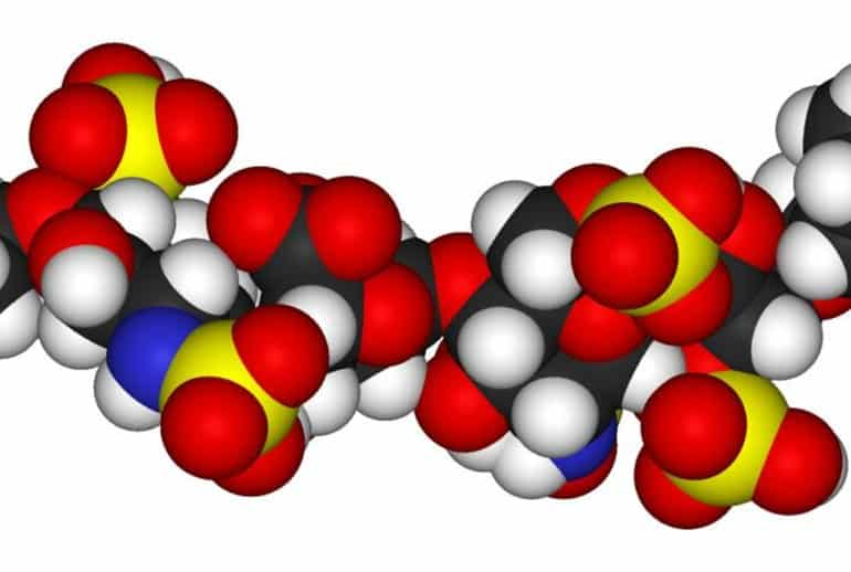 This shows a molecular model of heparin