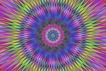 This is a spiky psychedelic star which becomes an optical illusion the longer you look at it