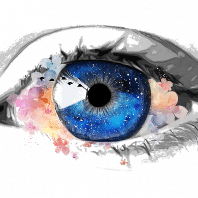 This is a painting of an eye