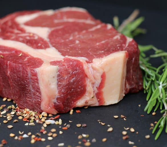 This shows a steak
