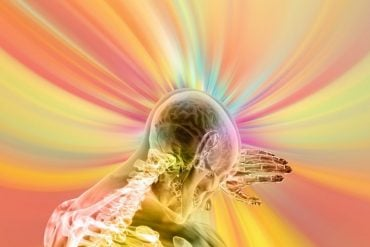 This shows the outline of a head surrounded by an aura