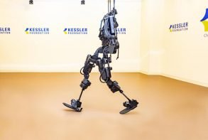 This shows the exoskeleton suit