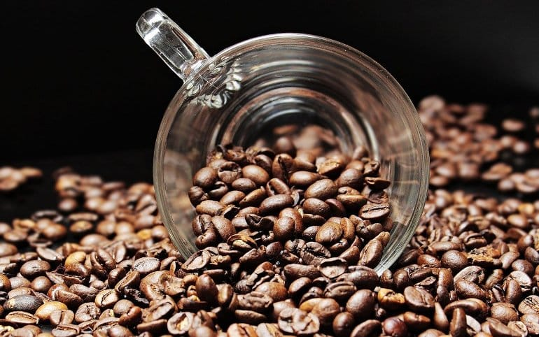 This shows coffee beans