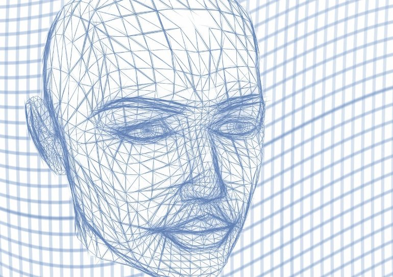 This is a drawing of a face