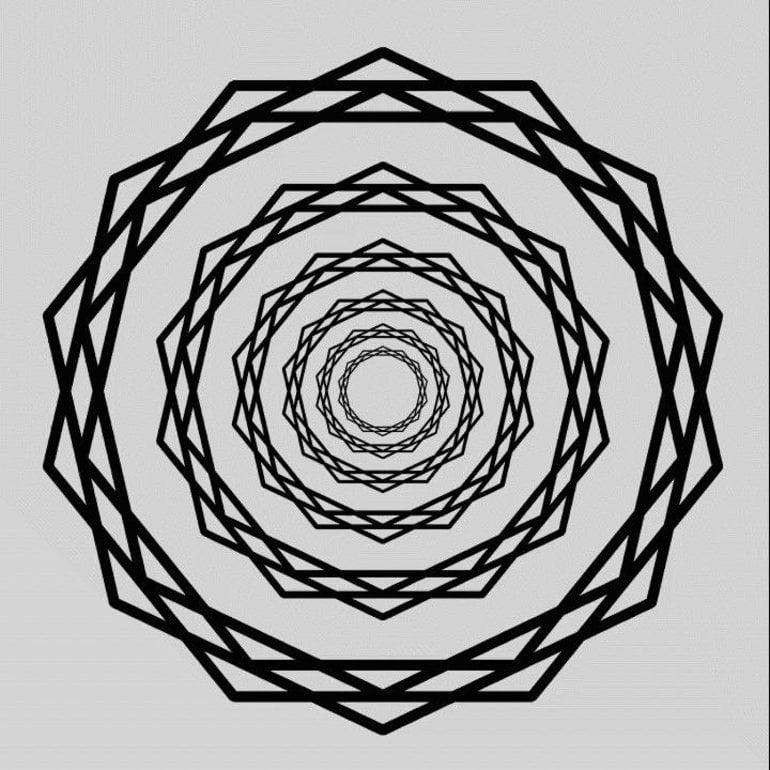 This shows the starburst optical illusion