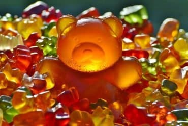 This shows a giant gummy bear