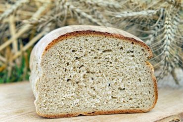 This shows a loaf of white bread