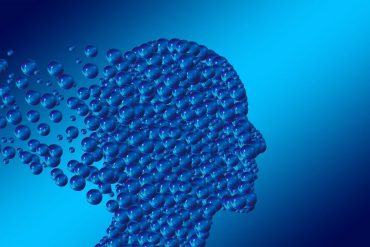 This shows a head made of bubbles