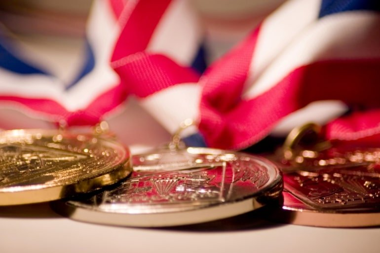 This shows olympic medals