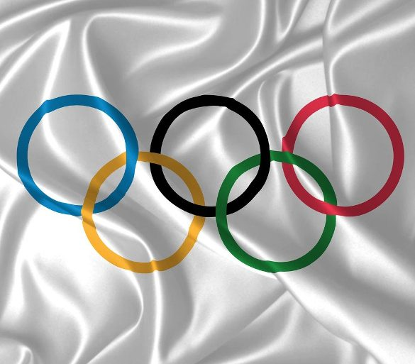 This shows the olympics flag