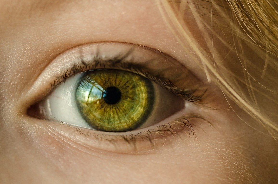 This shows a woman's eye
