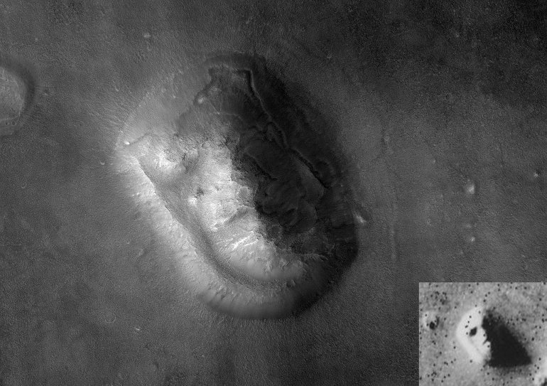 This shows the face on mars