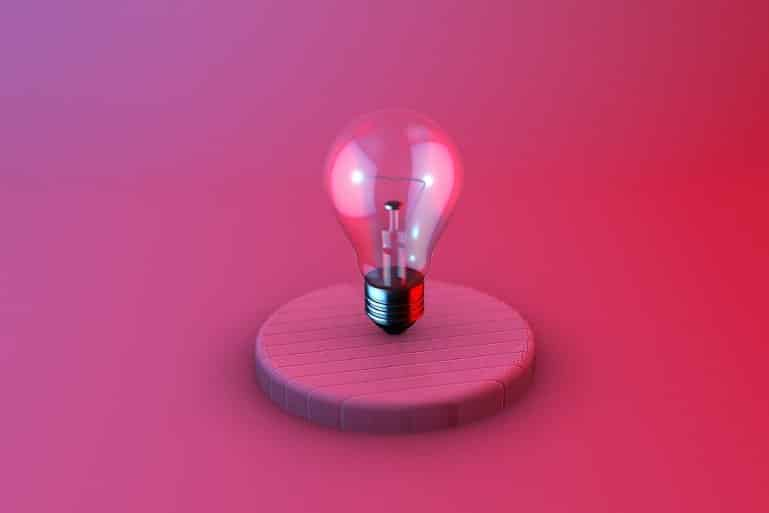 This shows a light bulb