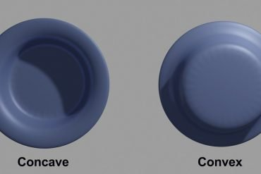 This shows a concave and convex circles