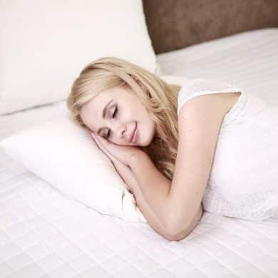 This shows a sleeping woman