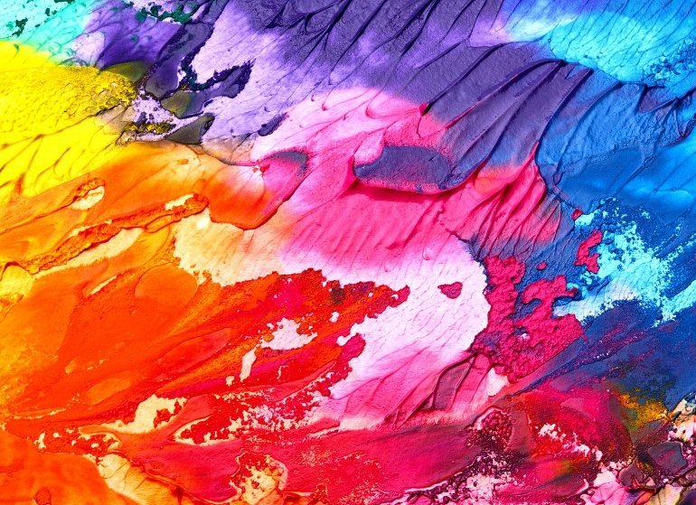 This shows a colorful painting