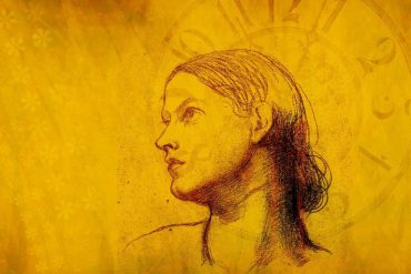 This is a drawing of a woman's face