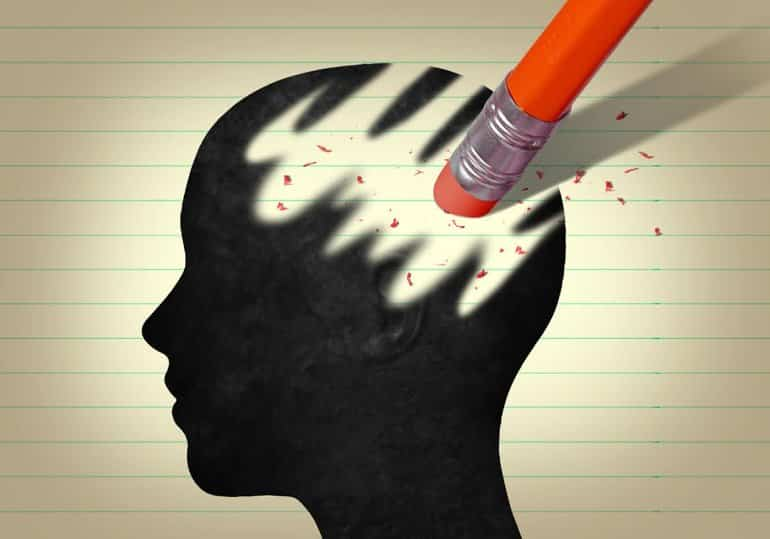 This shows a drawing of a head and eraser marks