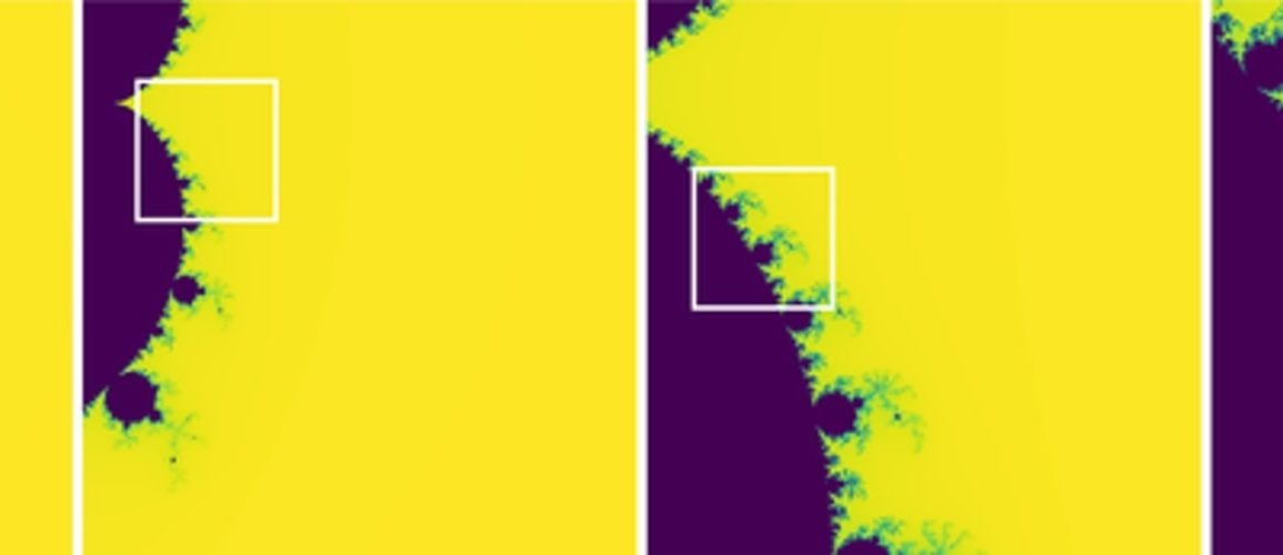 This shows fractal images from the study