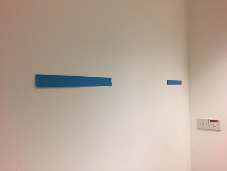 This shows lines on a wall