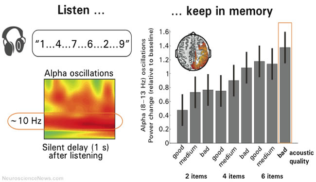 A graphic depicting noisy surroundings and memory is shown.